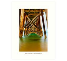 Port Noarlunga Pier-South Australia  Art Print