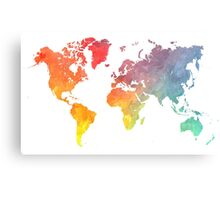 Map of the world colored Metal Print