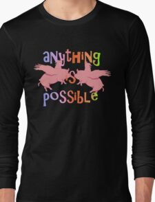 When Pink Pigs Fly Anything is Possible Long Sleeve T-Shirt