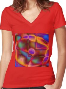Geometry and Color Women's Fitted V-Neck T-Shirt
