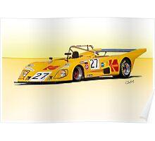 1972 Lola T290 Racecar Poster