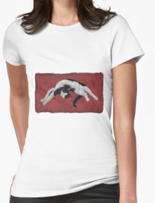 Zorro is watching - Red Womens Fitted T-Shirt