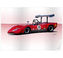 1969 Lola T163 Racecar Poster