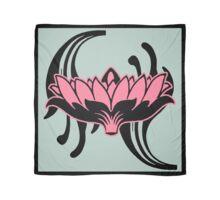 Pink Lotus on Eau de Nil Background Scarf