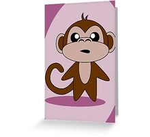 Monkey Greeting Card
