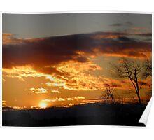 Blazing Maine Sunset Poster