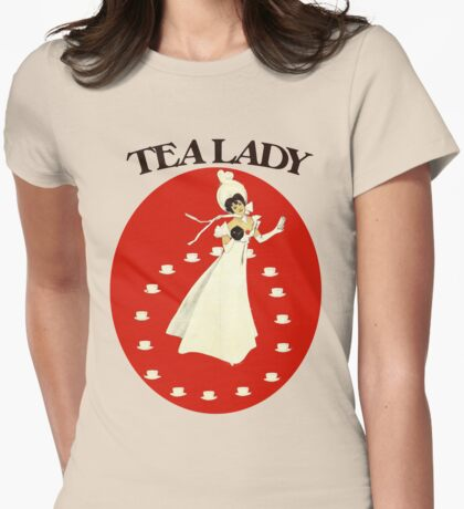 Vintage tea lady Womens Fitted T-Shirt