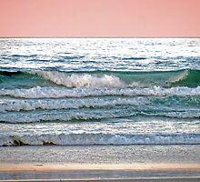 pink beach by Zefira