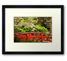 Red Bridge Springtime Framed Print