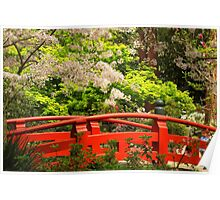 Red Bridge Springtime Poster