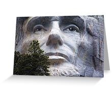 Lincoln on Rushmore Greeting Card