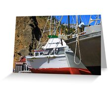 Boats In Drydock Greeting Card