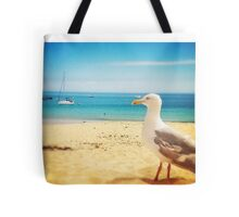 Seagull on the beach Tote Bag
