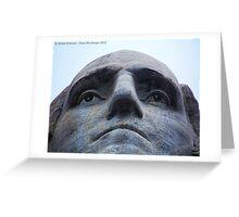 Washington on Rushmore Greeting Card