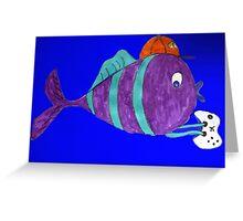 xbox gaming singular fish  Greeting Card
