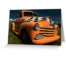 Checkerboard Chevy Pick Up_1 Greeting Card