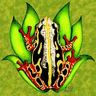 Black and Red Tree Frog by Sheryl Unwin