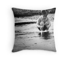 Child Portraits - Puddle Throw Pillow