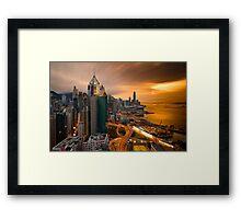 Hong Kong Sunset 2015 Framed Print