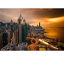 Hong Kong Sunset 2015 Photographic Print