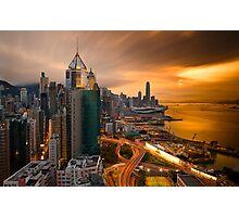 Hong Kong Sunset 2015 Photographic Print