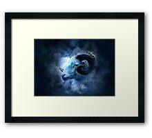 Zodiac signs - aries Framed Print