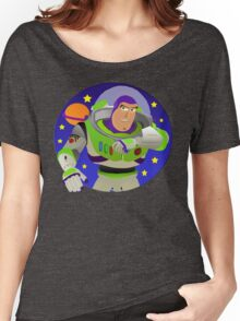 Toy Story Buzz Lightyear Space Ranger Women's Relaxed Fit T-Shirt