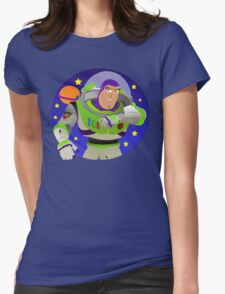 Toy Story Buzz Lightyear Space Ranger Womens Fitted T-Shirt