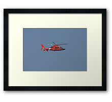 US Coast Guard Helicopter Framed Print