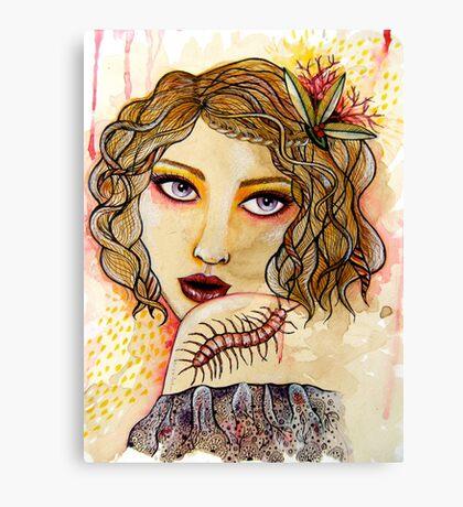 Cecilia and the Centipede Canvas Print