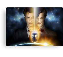 Doctor Who - Tennant & Smith  Canvas Print