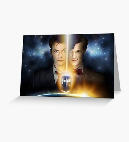 Doctor Who - Tennant & Smith  Greeting Card