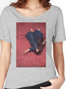 By the Flowers She was Swept Away Women's Relaxed Fit T-Shirt