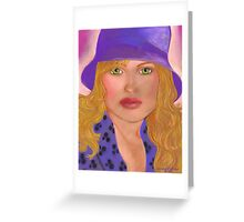 Striking in a Purple Hat Greeting Card