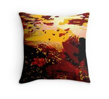 Oceans Of Gold Throw Pillow