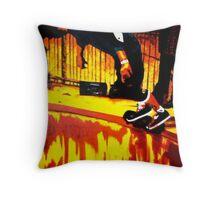 Rails Of Fire Throw Pillow