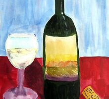 Relax And Have a Glass of Wine by Raquel Morales