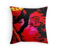 Red Concrete Throw Pillow