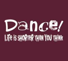 Tee - Dance! (White text) by Rosalie Dale