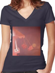 Chair-O-Plane Women's Fitted V-Neck T-Shirt