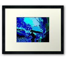 Blue Barrels Framed Print