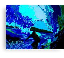 Blue Barrels Canvas Print