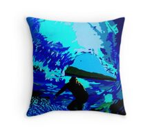 Blue Barrels Throw Pillow