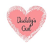 Daddy's Girl for Kids Photographic Print