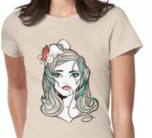 Mermaid Minnie Womens Fitted T-Shirt