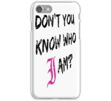 Every Time I Die - Don't You Know Who I Am? (Black) iPhone Case/Skin