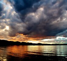 Chatfield Reservoir Technicolor Sunset by Stevej46