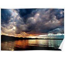 Chatfield Reservoir Technicolor Sunset Poster