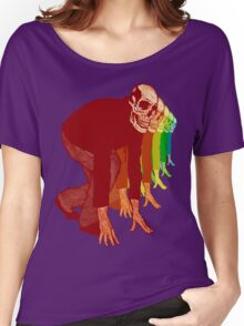 Racing Rainbow Skeletons Women's Relaxed Fit T-Shirt