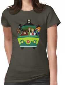 Scream-Scooby Doo Womens Fitted T-Shirt